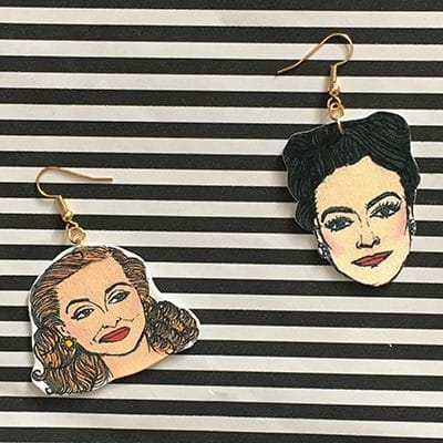 Joan Crawford Earrings