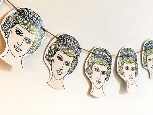 Princess Diana bunting
