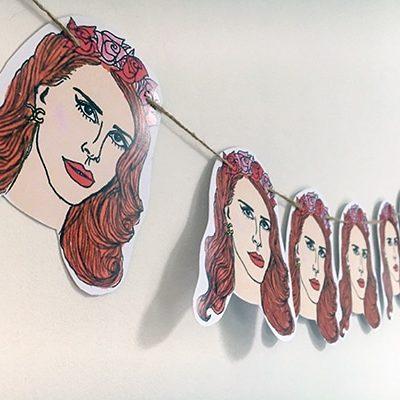 Lana Del Rey bunting