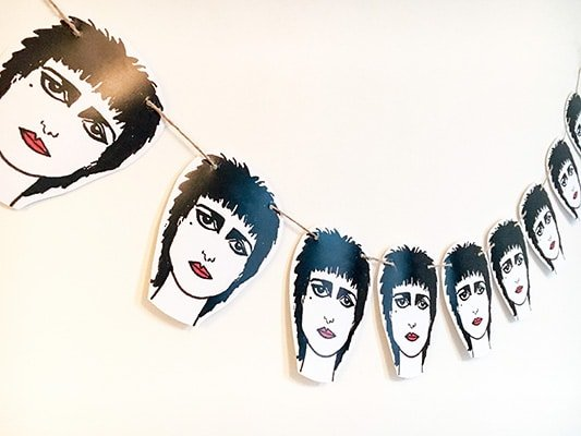 Siouxsie Sioux bunting