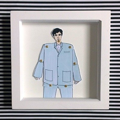 David Byrne Framed doll 1