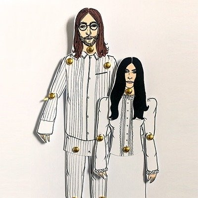 John and Yoko Paper Dolls 1
