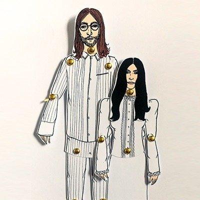 John and Yoko Paper Dols 2