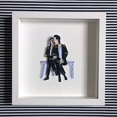 PJ Harvey and Nick Cave Framed doll set 1