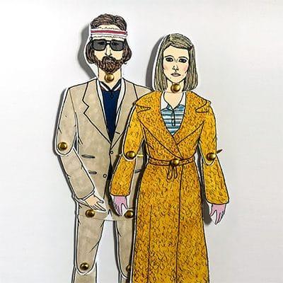 Richie and Margot Tenenbaum paper dolls 1