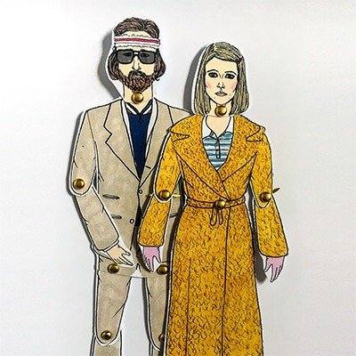 Richie and Margot Tenenbaum paper dolls 1