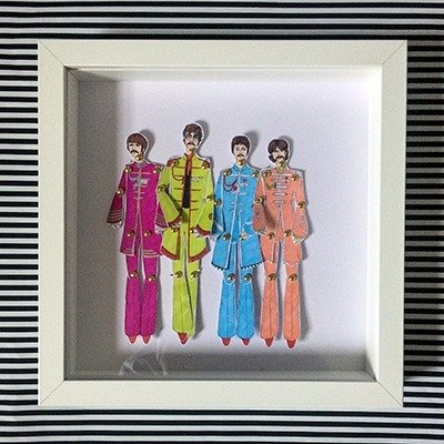 The Beatles Framed Paper Dolls 1