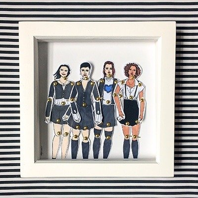 The Craft Framed doll set1